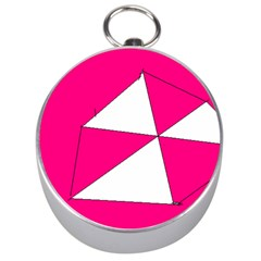 Pink White Art Kids 7000 Silver Compass by yoursparklingshop