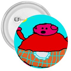 Sweet Pig Knoremans, Art By Kids 3  Button by yoursparklingshop