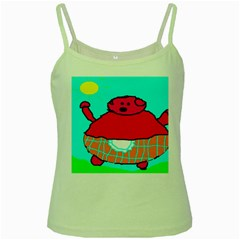 Sweet Pig Knoremans, Art By Kids Green Spaghetti Tank