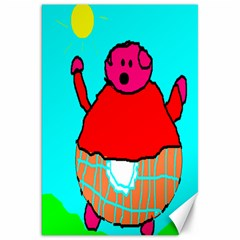 Sweet Pig Knoremans, Art By Kids Canvas 20  X 30  (unframed) by yoursparklingshop