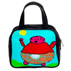 Sweet Pig Knoremans, Art By Kids Classic Handbag (two Sides) by yoursparklingshop