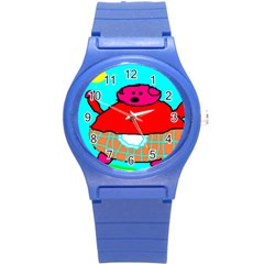 Sweet Pig Knoremans, Art By Kids Plastic Sport Watch (small) by yoursparklingshop