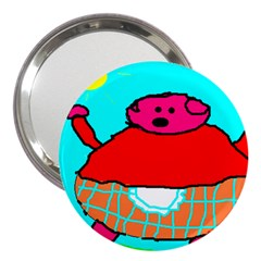 Sweet Pig Knoremans, Art By Kids 3  Handbag Mirror by yoursparklingshop