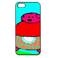 Sweet Pig Knoremans, Art By Kids Apple Iphone 5 Seamless Case (black)