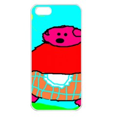 Sweet Pig Knoremans, Art By Kids Apple Iphone 5 Seamless Case (white) by yoursparklingshop