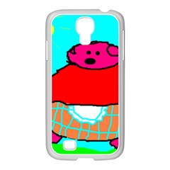 Sweet Pig Knoremans, Art By Kids Samsung Galaxy S4 I9500/ I9505 Case (white) by yoursparklingshop