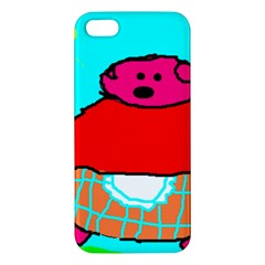 Sweet Pig Knoremans, Art By Kids Iphone 5s Premium Hardshell Case by yoursparklingshop