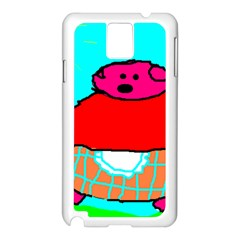Sweet Pig Knoremans, Art By Kids Samsung Galaxy Note 3 N9005 Case (white)
