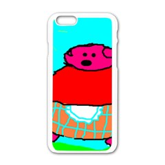 Sweet Pig Knoremans, Art By Kids Apple Iphone 6 White Enamel Case by yoursparklingshop