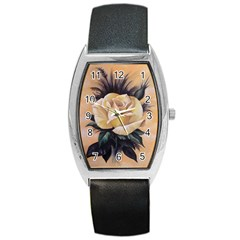 Yellow Rose Tonneau Leather Watch by ArtByThree