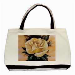 Yellow Rose Classic Tote Bag by ArtByThree