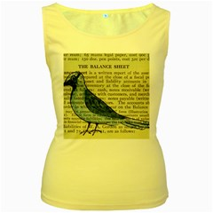 Bird Women s Tank Top (yellow) by boho