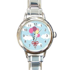 Balloons Round Italian Charm Watch by Kathrinlegg