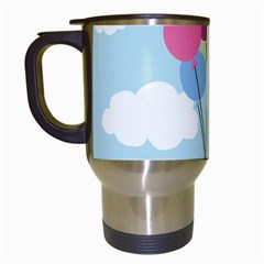Balloons Travel Mug (white) by Kathrinlegg