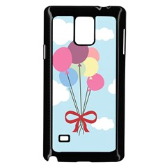 Balloons Samsung Galaxy Note 4 Case (black) by Kathrinlegg