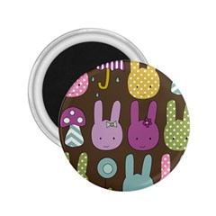 Bunny  2 25  Button Magnet by Kathrinlegg