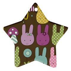 Bunny  Star Ornament by Kathrinlegg