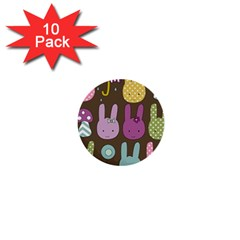 Bunny  1  Mini Button (10 Pack) by Kathrinlegg
