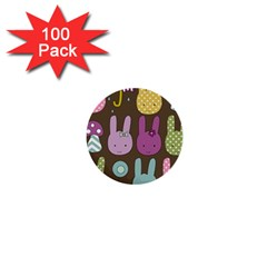 Bunny  1  Mini Button (100 Pack) by Kathrinlegg