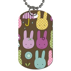 Bunny  Dog Tag (two Sided)  by Kathrinlegg