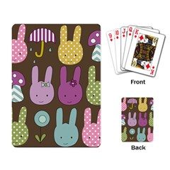 Bunny  Playing Cards Single Design by Kathrinlegg