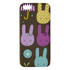 Bunny  Apple Iphone 5 Premium Hardshell Case by Kathrinlegg