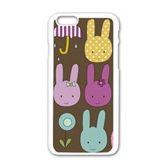 Bunny  Apple Iphone 6 White Enamel Case by Kathrinlegg