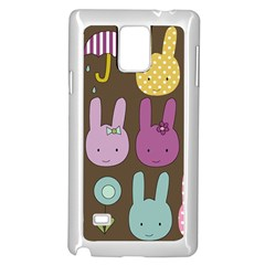 Bunny  Samsung Galaxy Note 4 Case (white) by Kathrinlegg