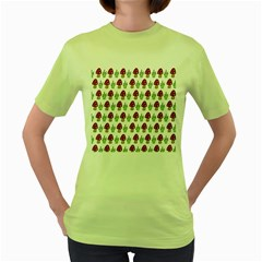 Mushrooms Women s T Shirt (green) by Kathrinlegg
