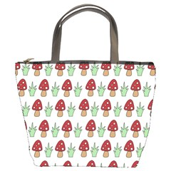 Mushrooms Bucket Handbag by Kathrinlegg