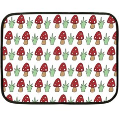 Mushrooms Mini Fleece Blanket (two Sided)