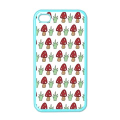Mushrooms Apple Iphone 4 Case (color) by Kathrinlegg