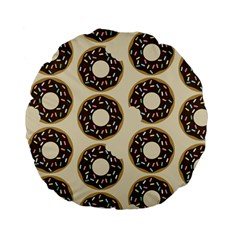 Donuts Standard 15  Premium Flano Round Cushion  by Kathrinlegg