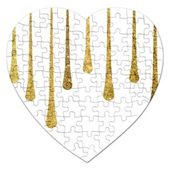 Gold Glitter Paint Jigsaw Puzzle (heart) by Kathrinlegg