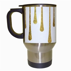 Gold Glitter Paint Travel Mug (white) by Kathrinlegg