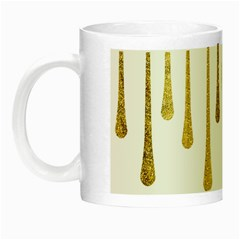 Gold Glitter Paint Glow In The Dark Mug by Kathrinlegg