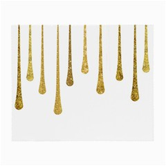 Gold Glitter Paint Glasses Cloth (small)