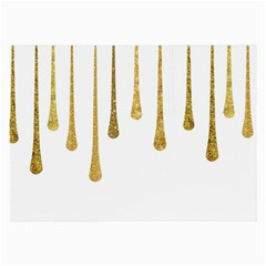 Gold Glitter Paint Glasses Cloth (large, Two Sided) by Kathrinlegg