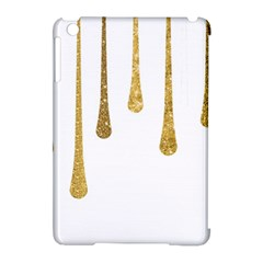 Gold Glitter Paint Apple Ipad Mini Hardshell Case (compatible With Smart Cover) by Kathrinlegg