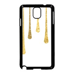 Gold Glitter Paint Samsung Galaxy Note 3 Neo Hardshell Case (black) by Kathrinlegg