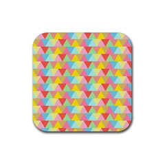 Triangle Pattern Drink Coasters 4 Pack (square) by Kathrinlegg