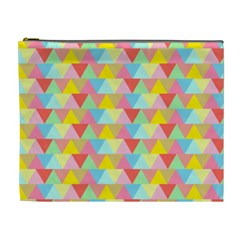Triangle Pattern Cosmetic Bag (xl) by Kathrinlegg
