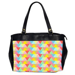 Triangle Pattern Oversize Office Handbag (two Sides) by Kathrinlegg