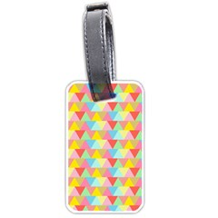 Triangle Pattern Luggage Tag (two Sides) by Kathrinlegg