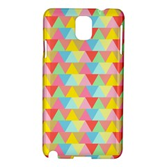Triangle Pattern Samsung Galaxy Note 3 N9005 Hardshell Case by Kathrinlegg
