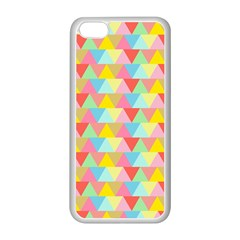 Triangle Pattern Apple Iphone 5c Seamless Case (white) by Kathrinlegg