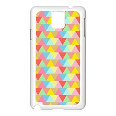 Triangle Pattern Samsung Galaxy Note 3 N9005 Case (white) by Kathrinlegg