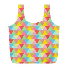 Triangle Pattern Reusable Bag (l) by Kathrinlegg
