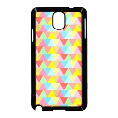 Triangle Pattern Samsung Galaxy Note 3 Neo Hardshell Case (black) by Kathrinlegg