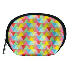 Triangle Pattern Accessory Pouch (medium) by Kathrinlegg